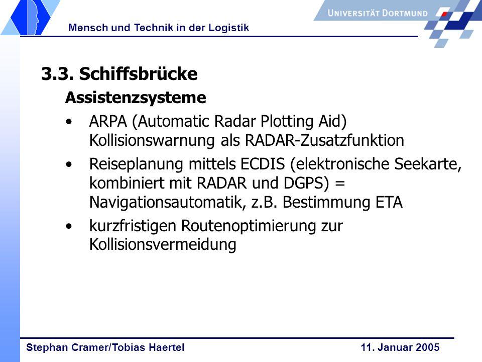 3.3. Schiffsbrücke Assistenzsysteme