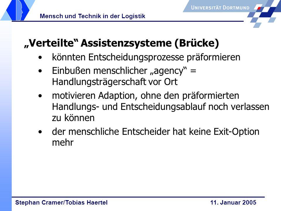 """""""Verteilte Assistenzsysteme (Brücke)"""