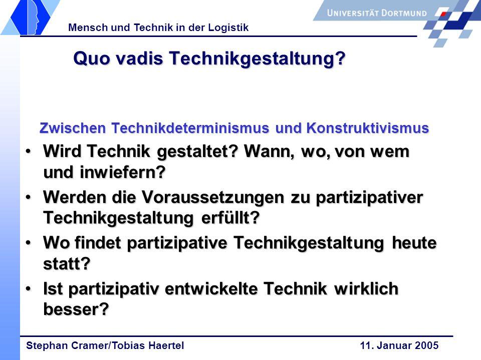 Quo vadis Technikgestaltung