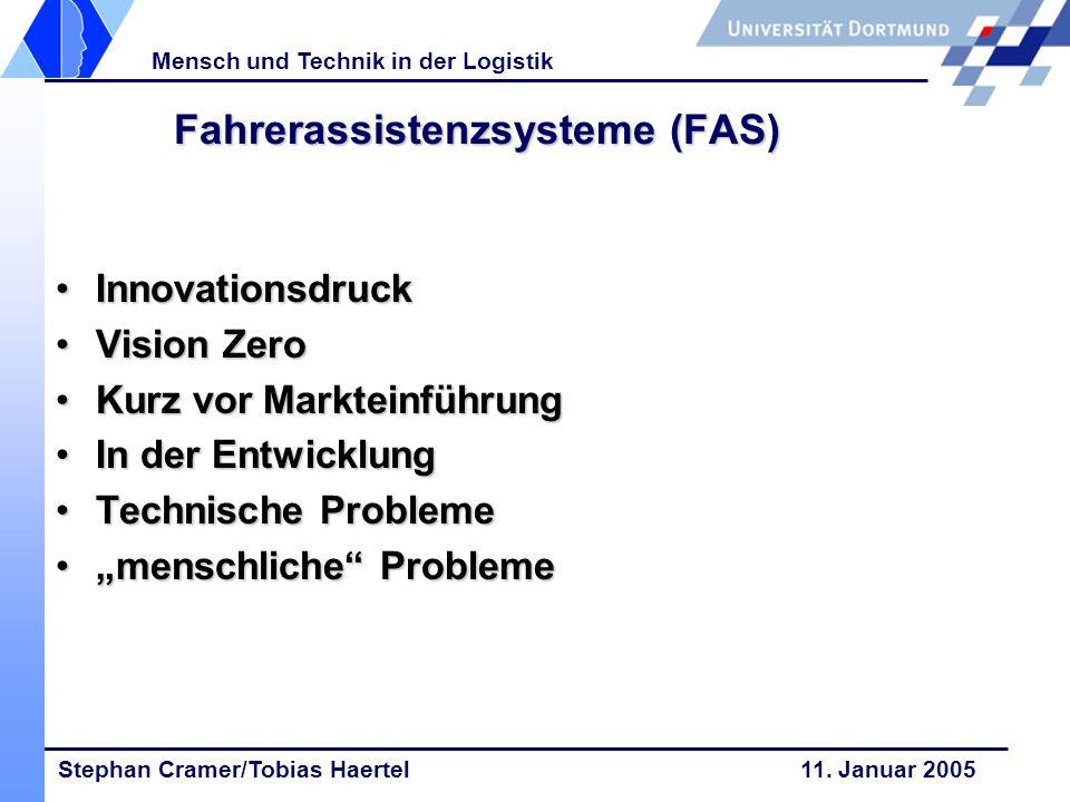 Fahrerassistenzsysteme (FAS)
