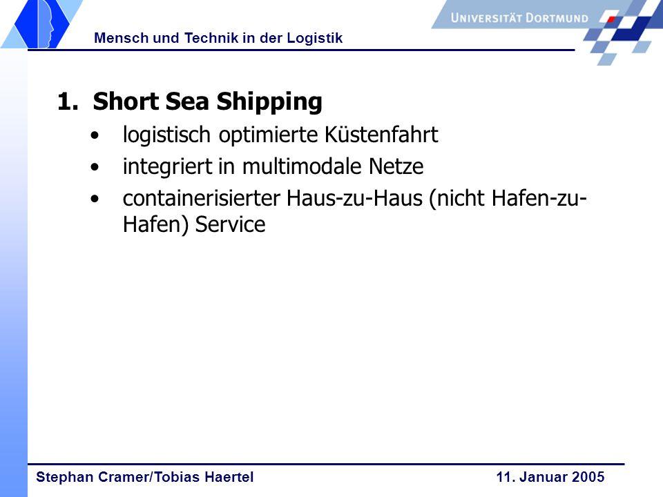 1. Short Sea Shipping logistisch optimierte Küstenfahrt