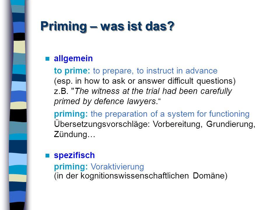 Priming – was ist das allgemein