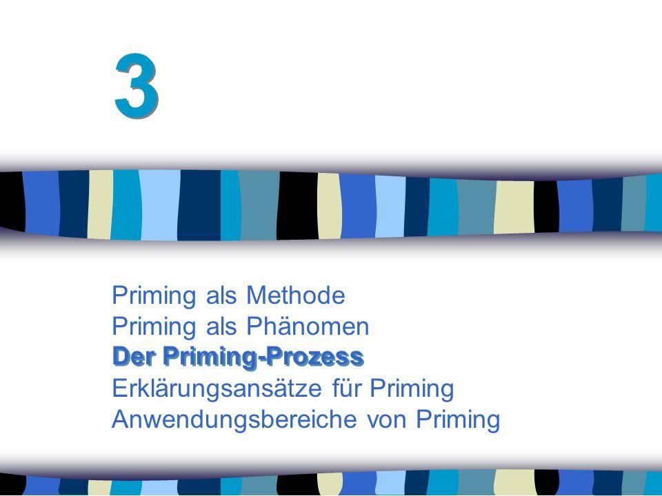 3 Priming als Methode Priming als Phänomen Erklärungsansätze für Priming Anwendungsbereiche von Priming.