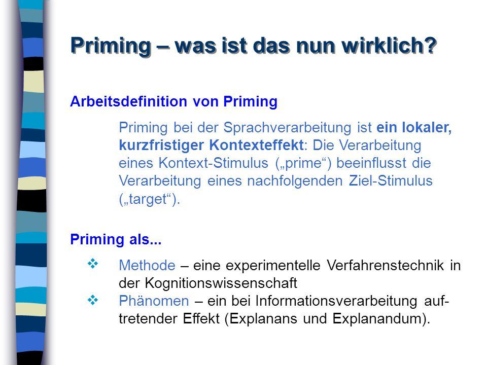 Priming – was ist das nun wirklich