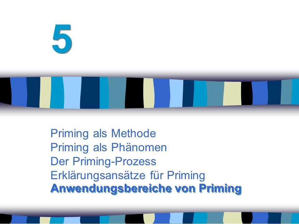 5 Priming als Methode Priming als Phänomen Der Priming-Prozess Erklärungsansätze für Priming.