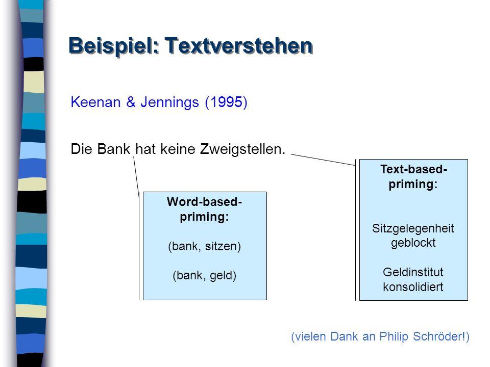 Beispiel: Textverstehen