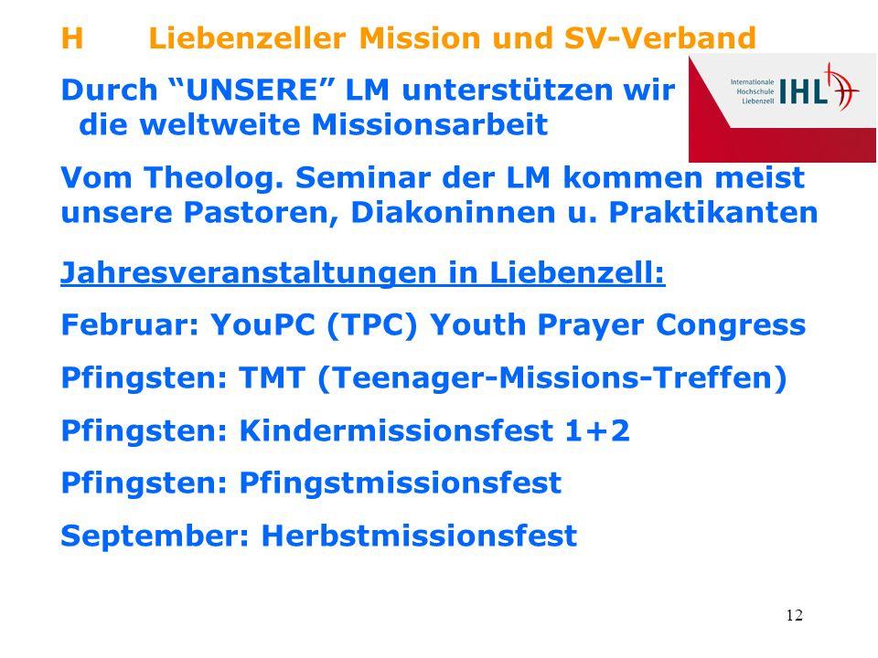H Liebenzeller Mission und SV-Verband