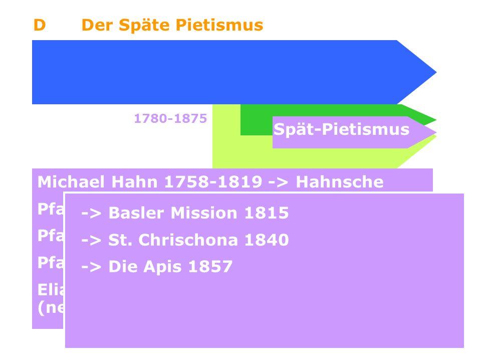 Michael Hahn 1758-1819 -> Hahnsche