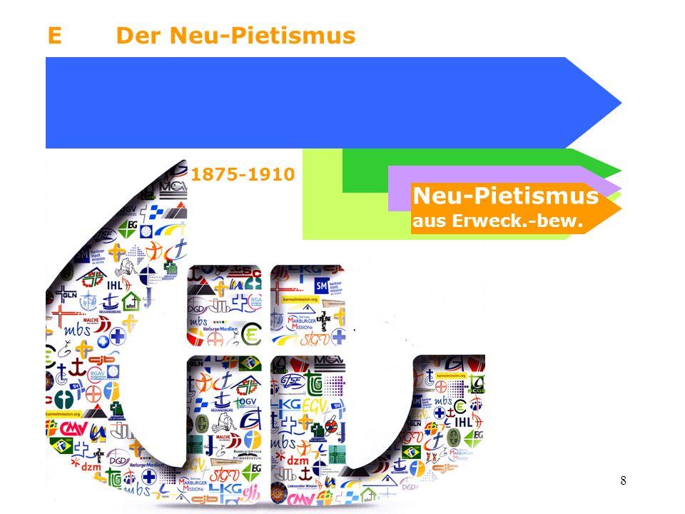 E Der Neu-Pietismus 1875-1910 Neu-Pietismus aus Erweck.-bew.