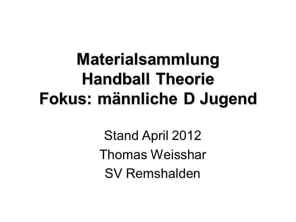 Materialsammlung Handball Theorie Fokus: männliche D Jugend