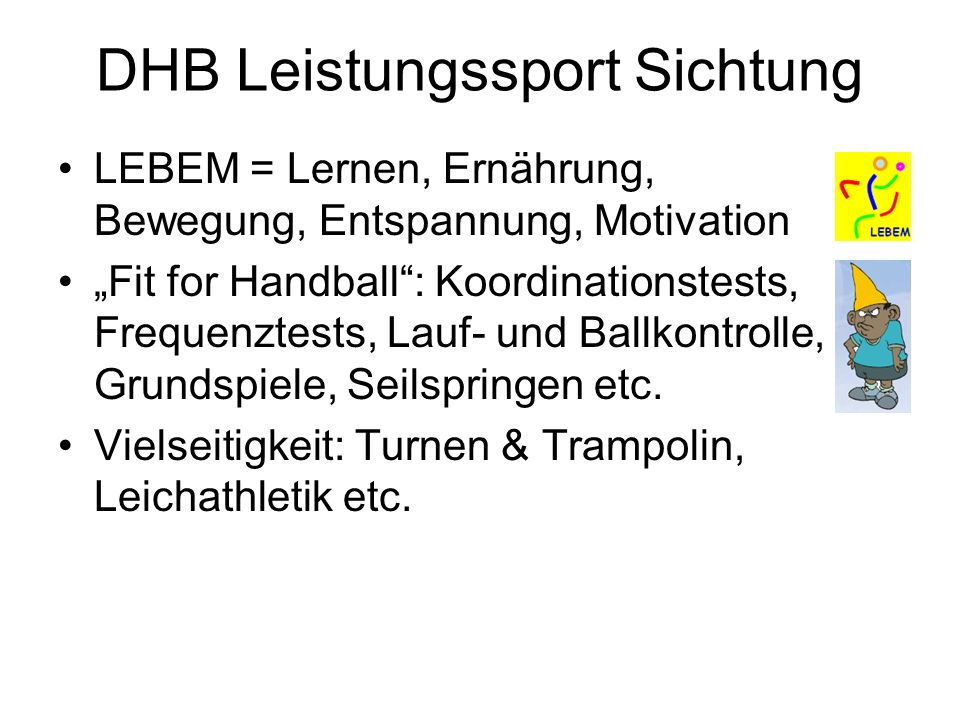 DHB Leistungssport Sichtung