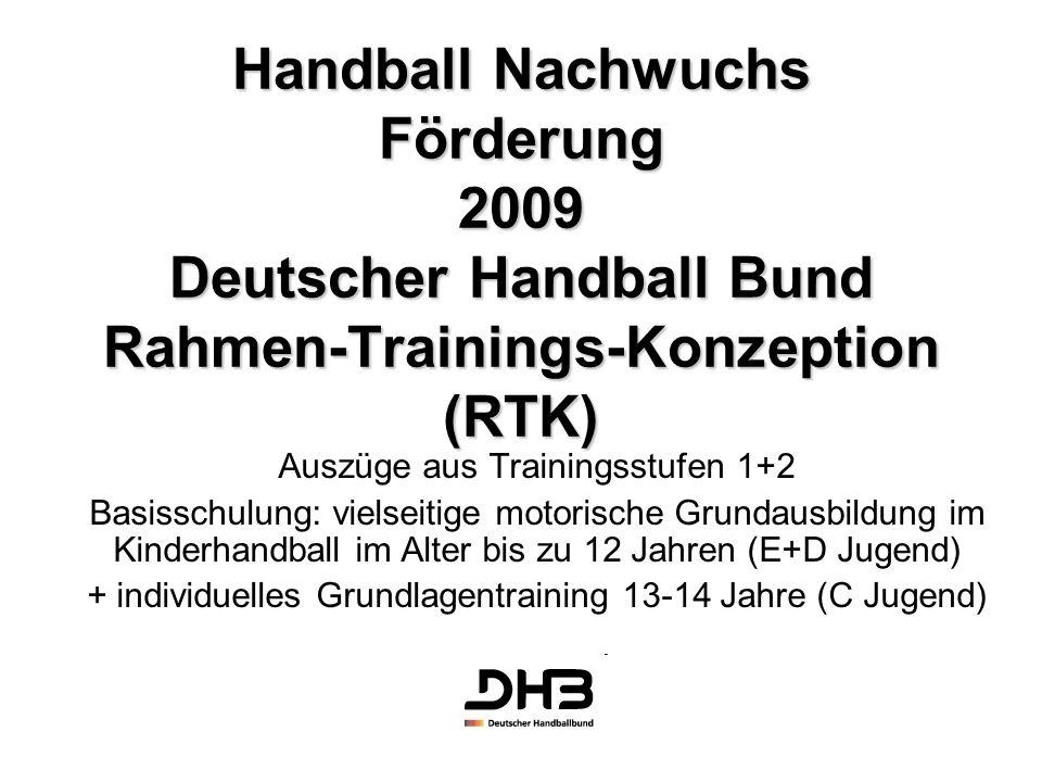 Handball Nachwuchs Förderung 2009 Deutscher Handball Bund Rahmen-Trainings-Konzeption (RTK)