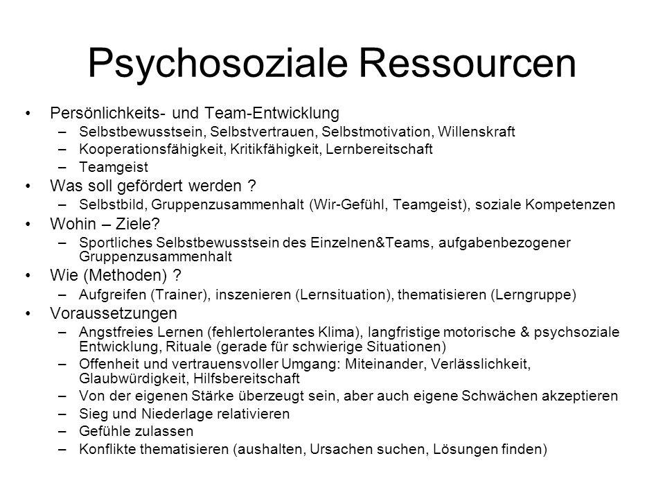Psychosoziale Ressourcen