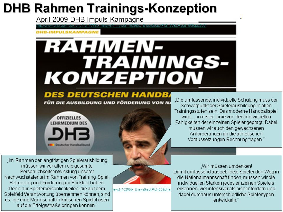 DHB Rahmen Trainings-Konzeption