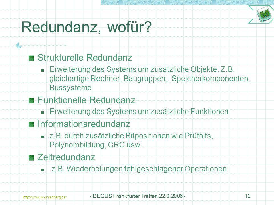 - DECUS Frankfurter Treffen 22.9.2006 -