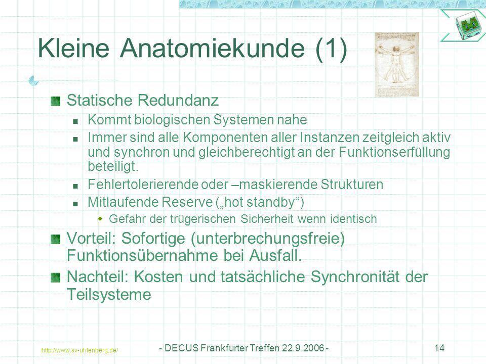 Kleine Anatomiekunde (1)