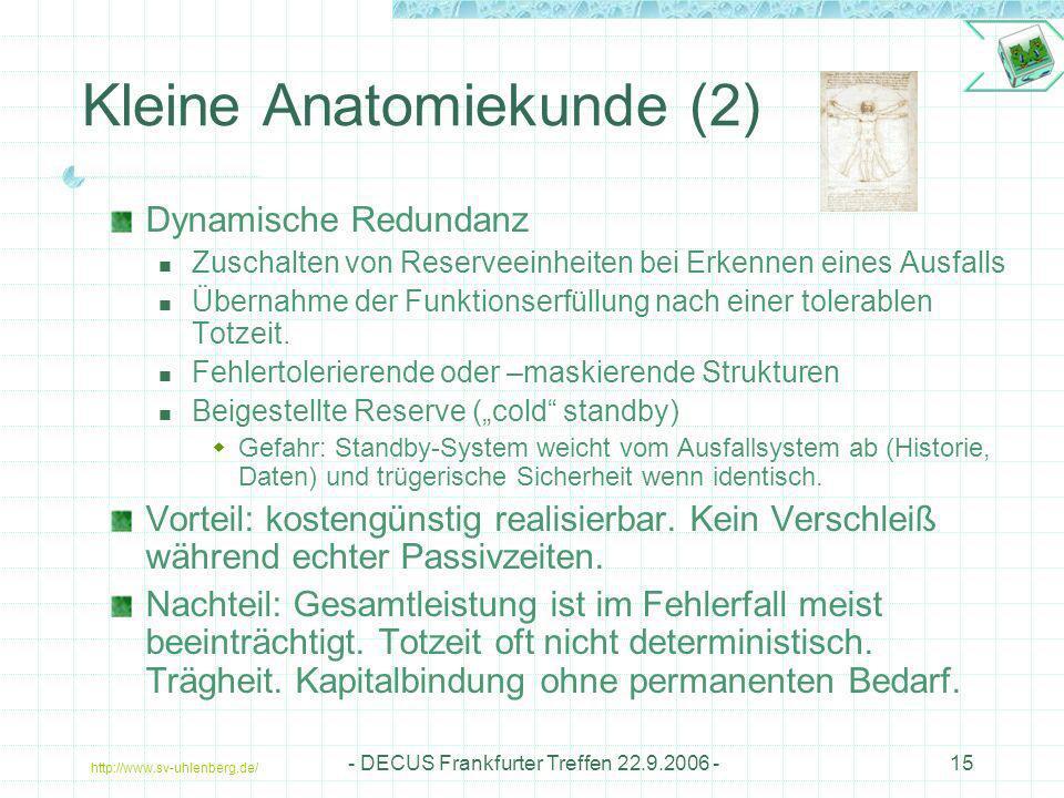 Kleine Anatomiekunde (2)