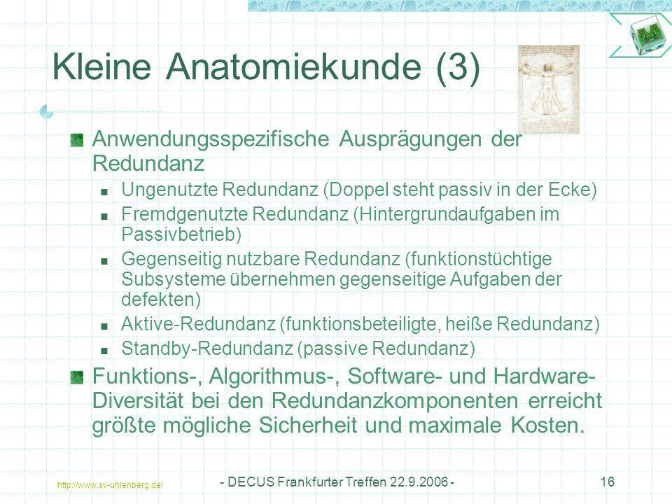 Kleine Anatomiekunde (3)