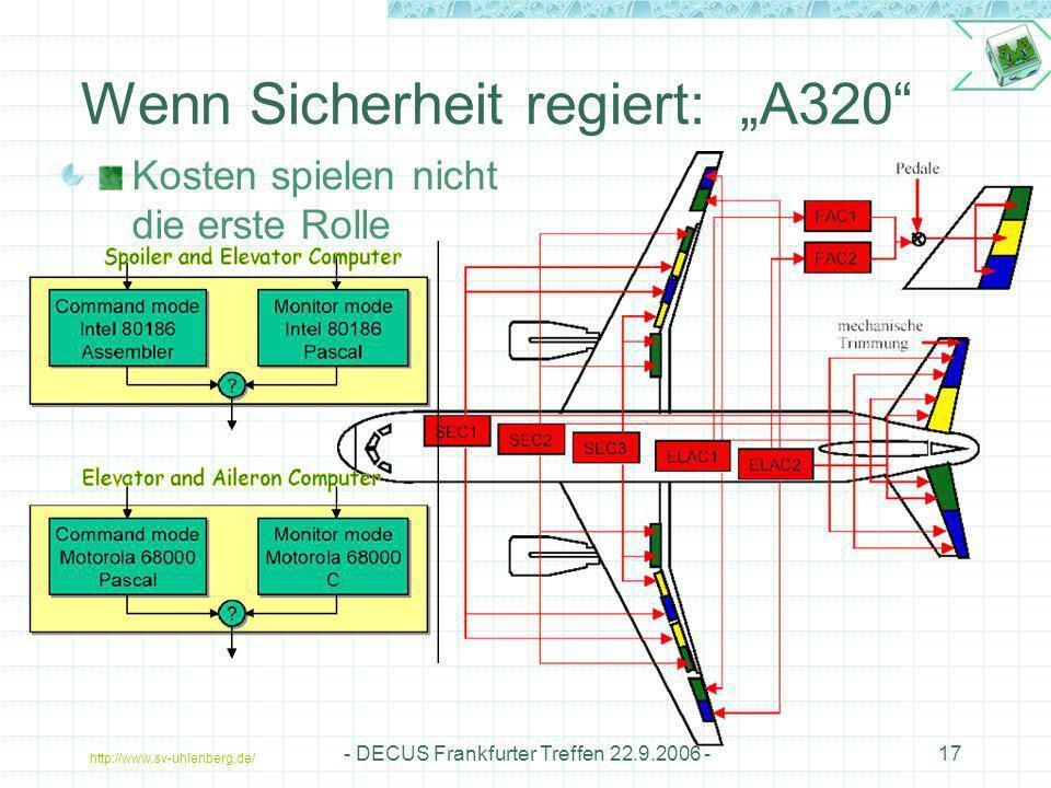 """Wenn Sicherheit regiert: """"A320"""