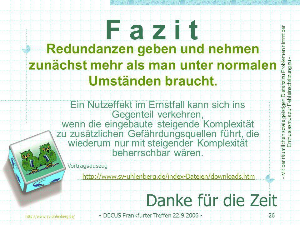 DECUS, Frankfurter Treffen 2004