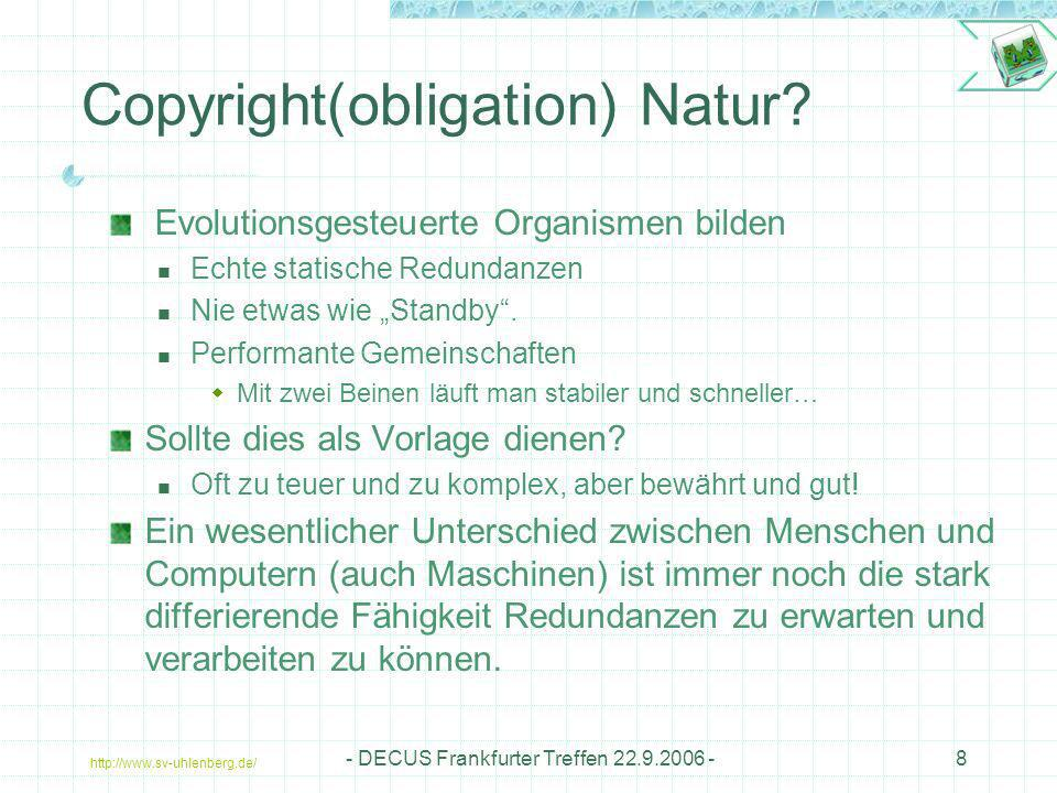 Copyright(obligation) Natur