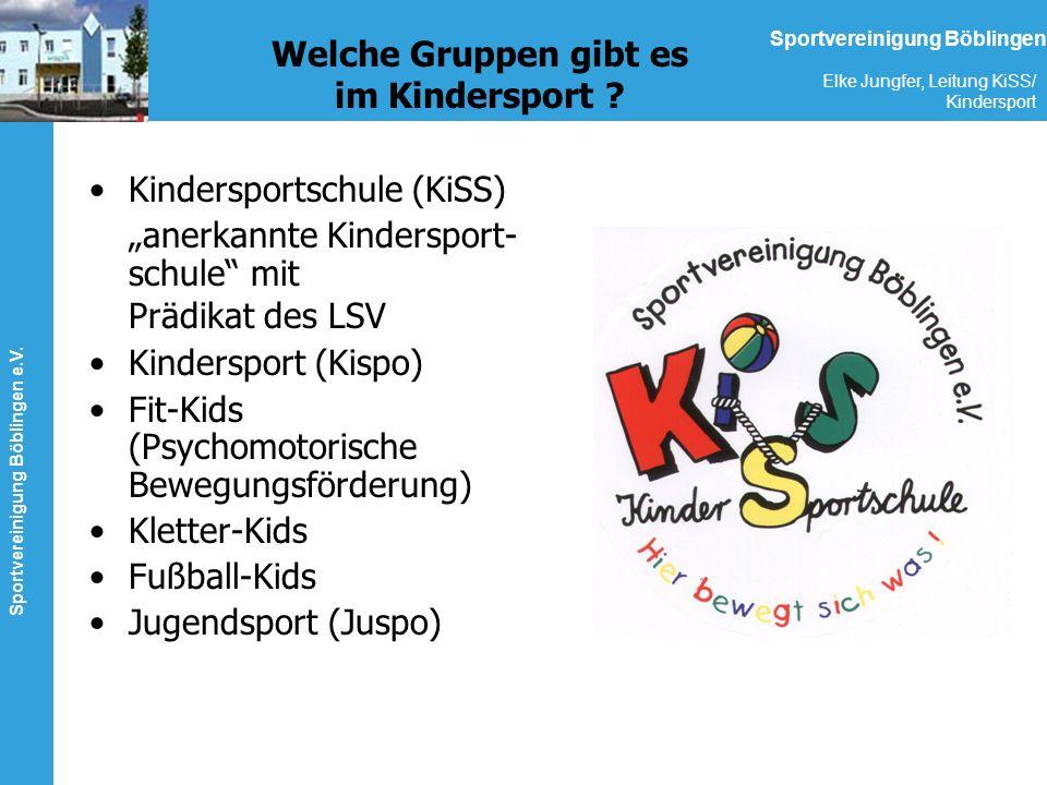 Welche Gruppen gibt es im Kindersport