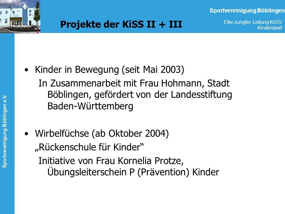 Projekte der KiSS II + III