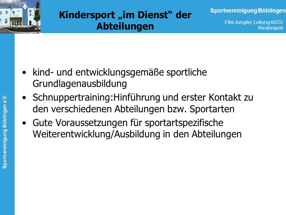 """Kindersport """"im Dienst der Abteilungen"""