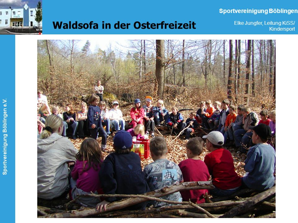 Waldsofa in der Osterfreizeit