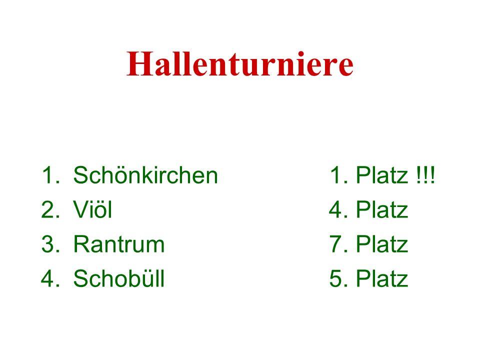 Hallenturniere Schönkirchen 1. Platz !!! Viöl 4. Platz
