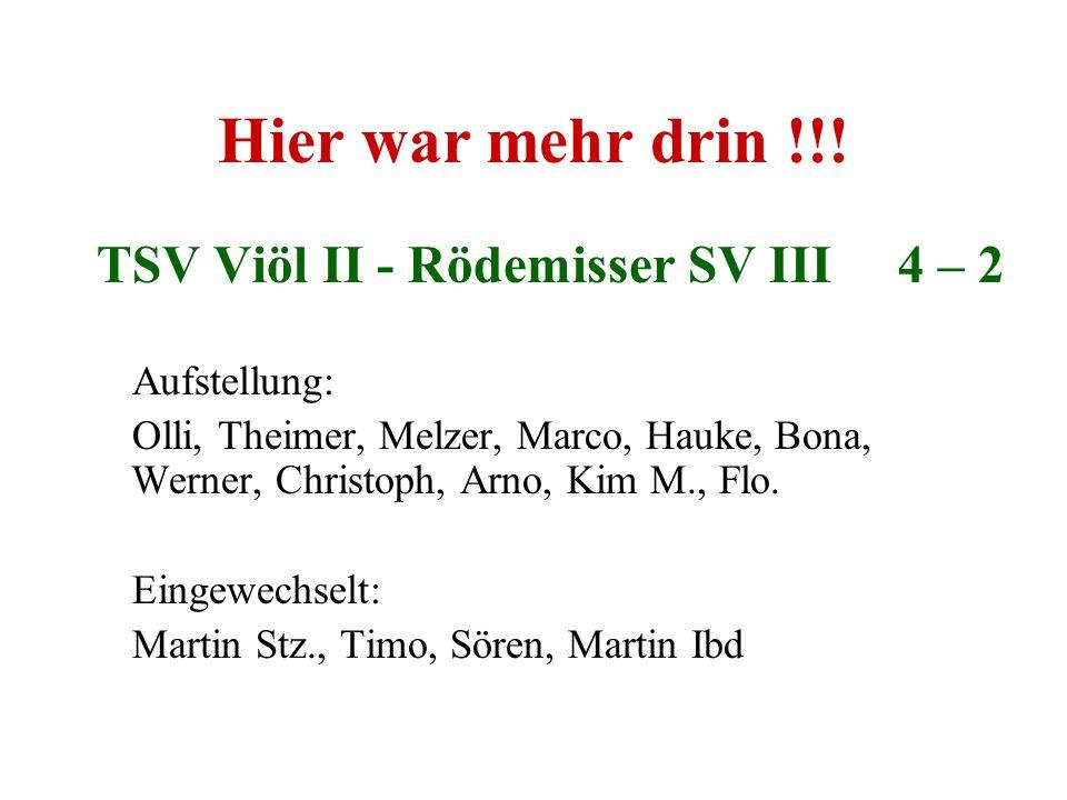 TSV Viöl II - Rödemisser SV III 4 – 2