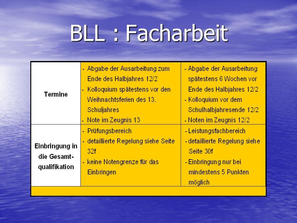 BLL : Facharbeit