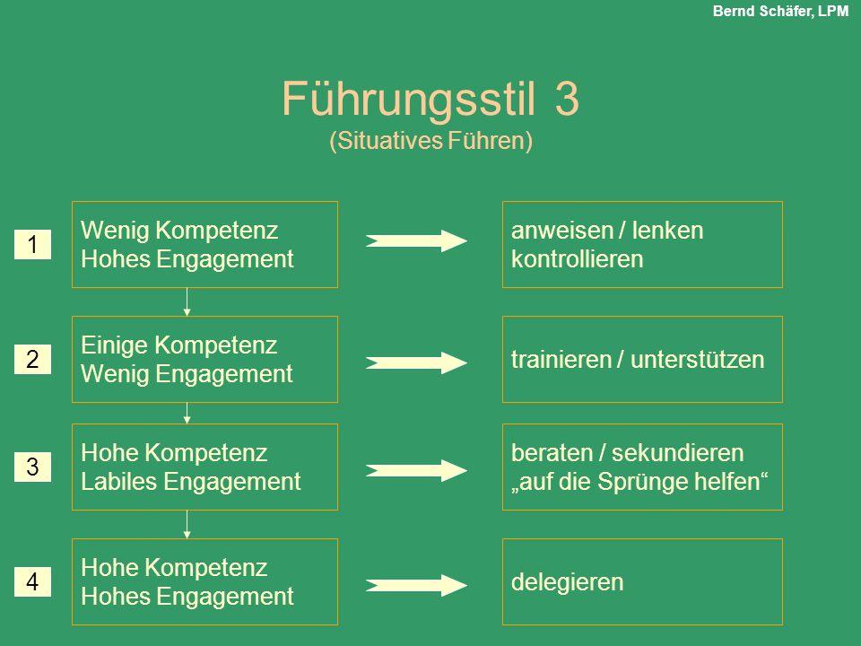 Führungsstil 3 (Situatives Führen)