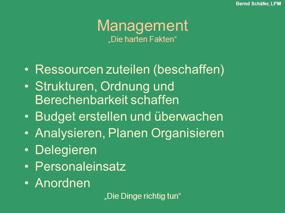 """Management """"Die harten Fakten"""