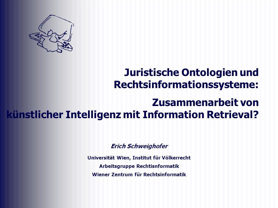 Juristische Ontologien und Rechtsinformationssysteme: