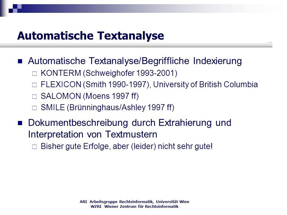 Automatische Textanalyse