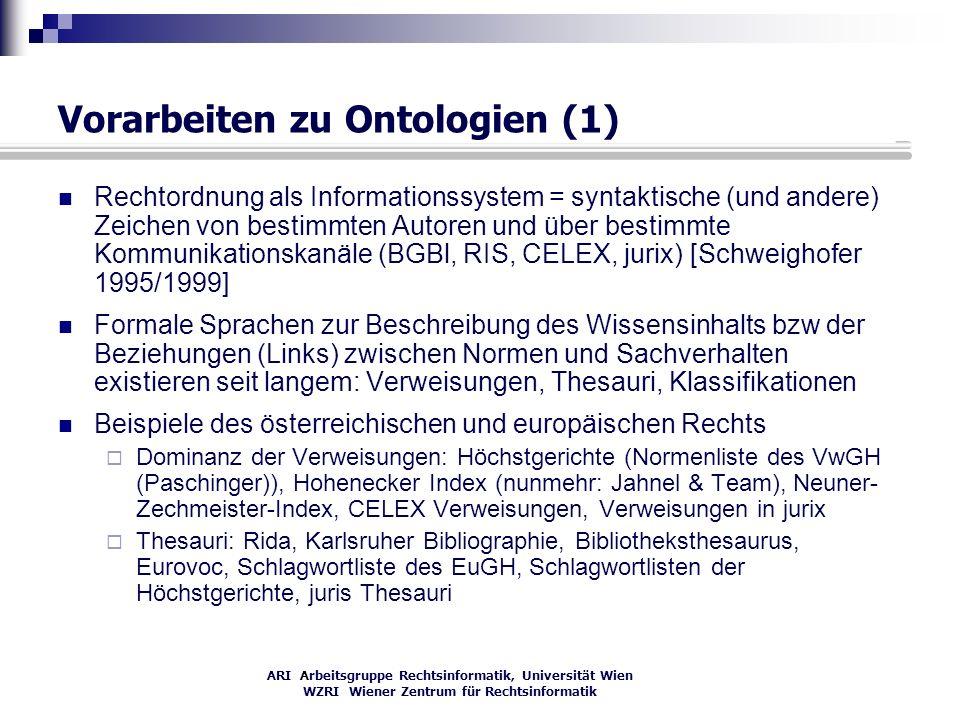 Vorarbeiten zu Ontologien (1)