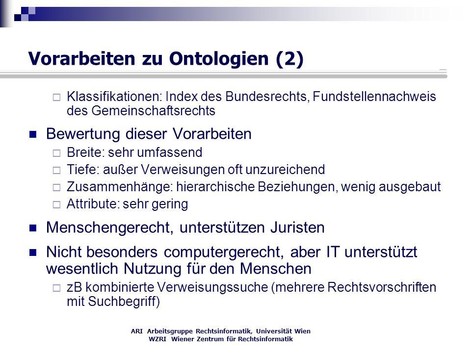 Vorarbeiten zu Ontologien (2)