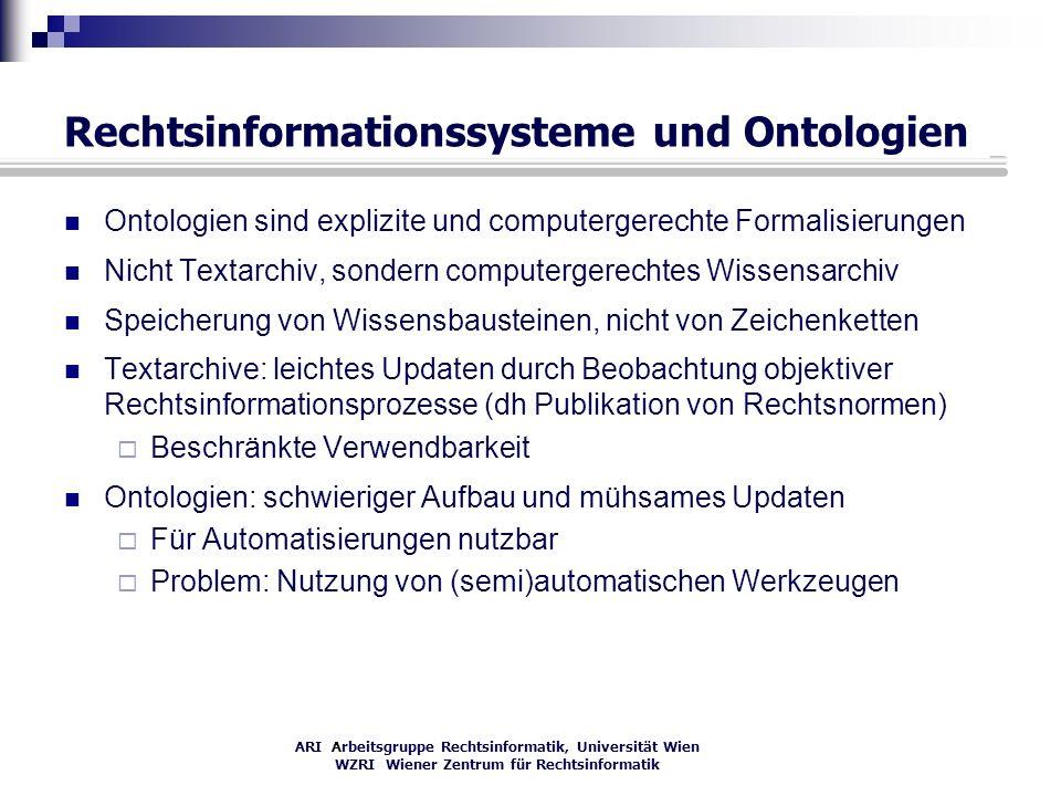 Rechtsinformationssysteme und Ontologien
