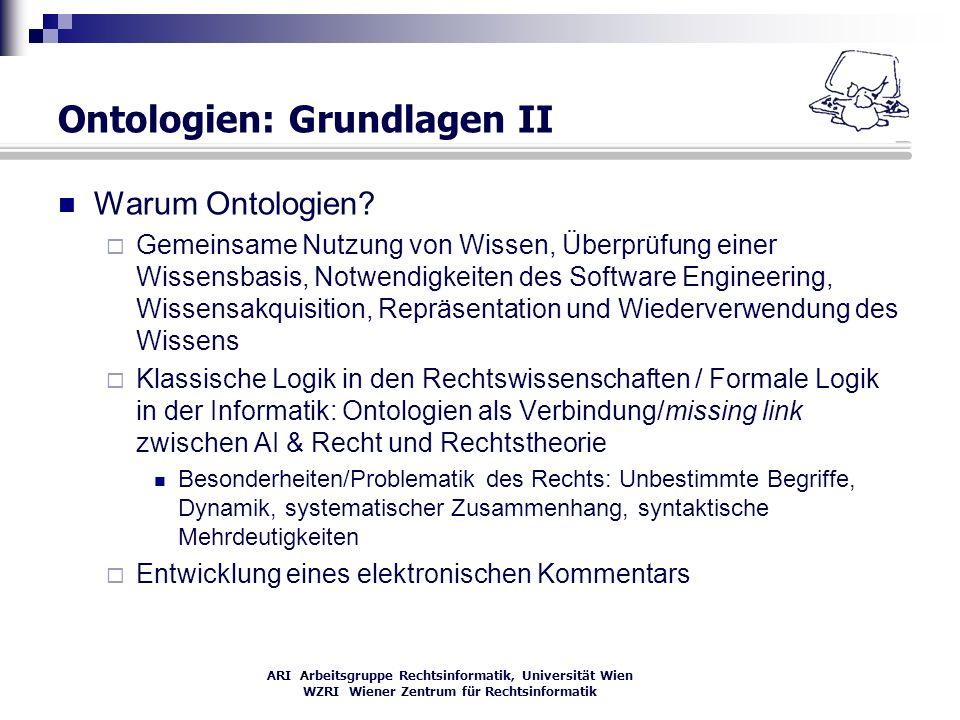 Ontologien: Grundlagen II