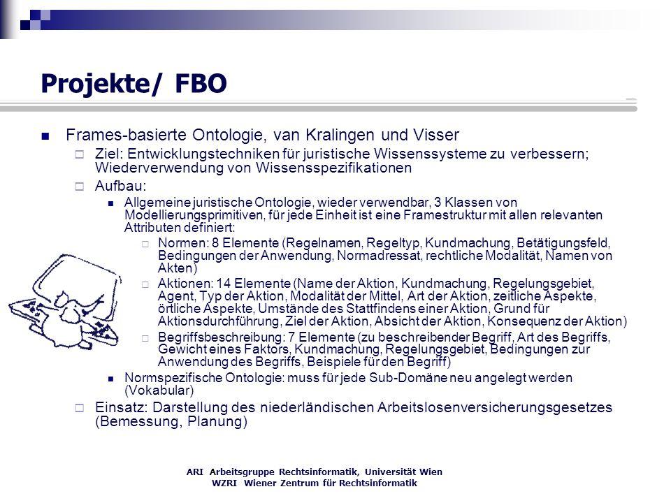 Projekte/ FBO Frames-basierte Ontologie, van Kralingen und Visser