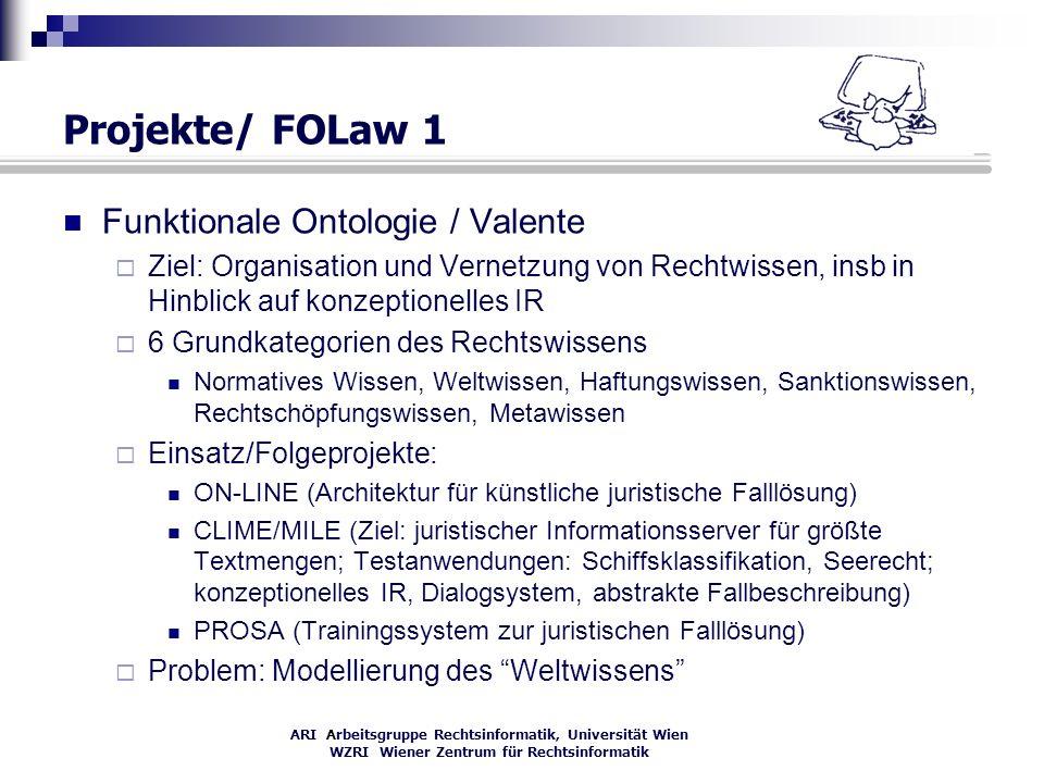 Projekte/ FOLaw 1 Funktionale Ontologie / Valente