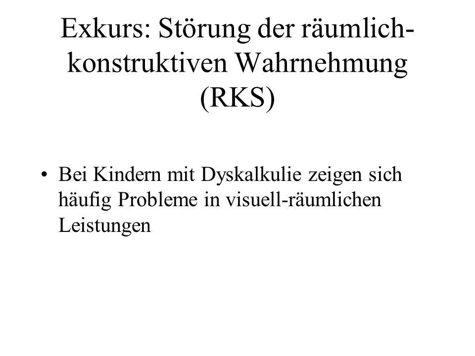 Exkurs: Störung der räumlich-konstruktiven Wahrnehmung (RKS)