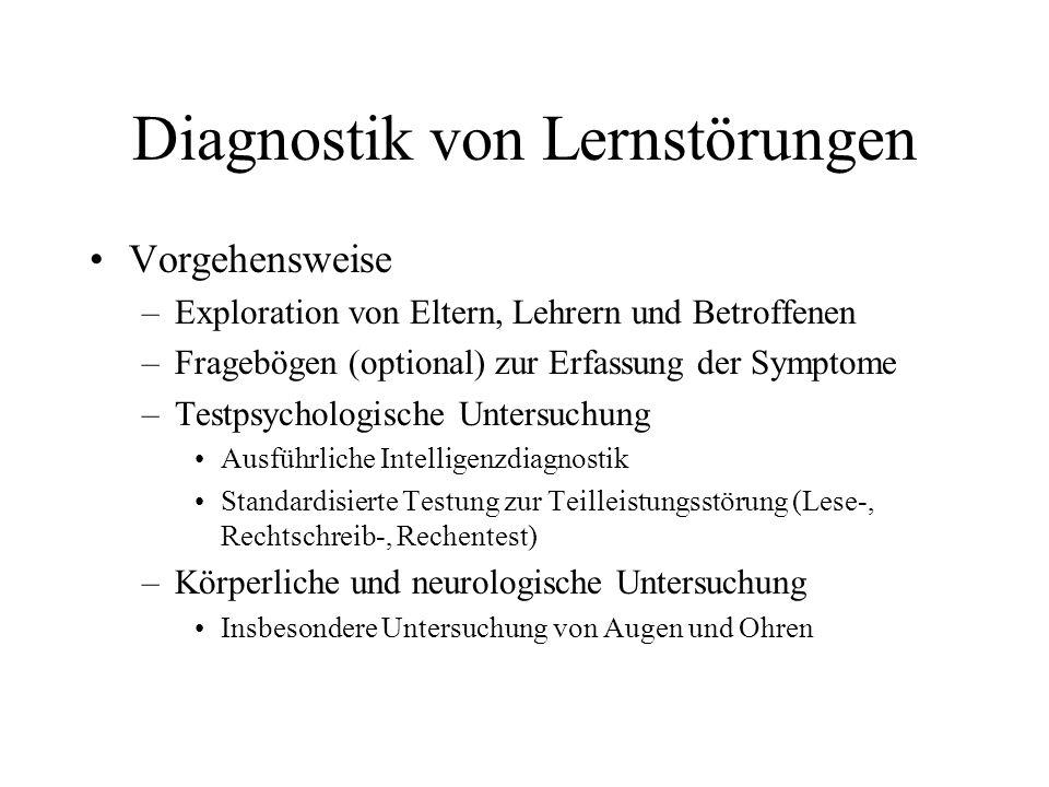 Diagnostik von Lernstörungen