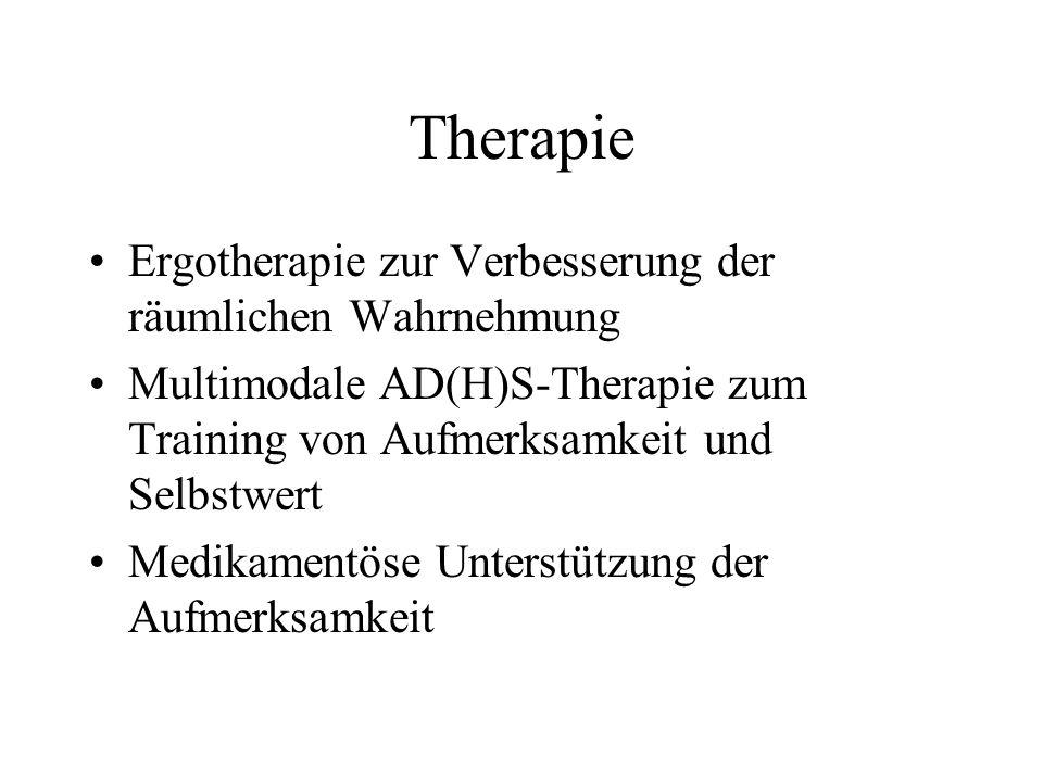 Therapie Ergotherapie zur Verbesserung der räumlichen Wahrnehmung