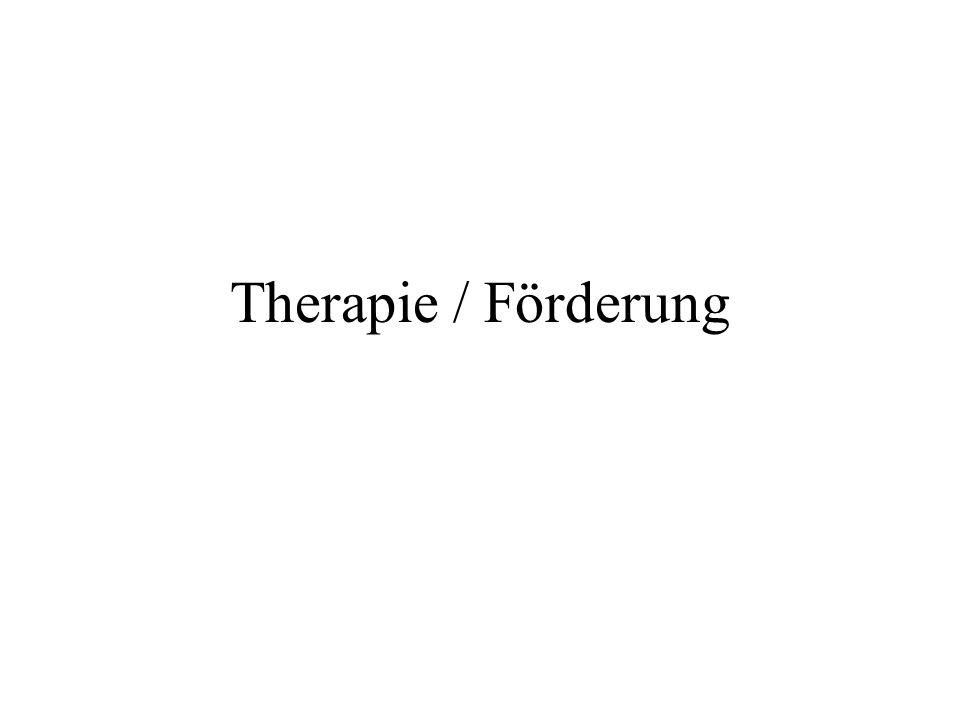 Therapie / Förderung