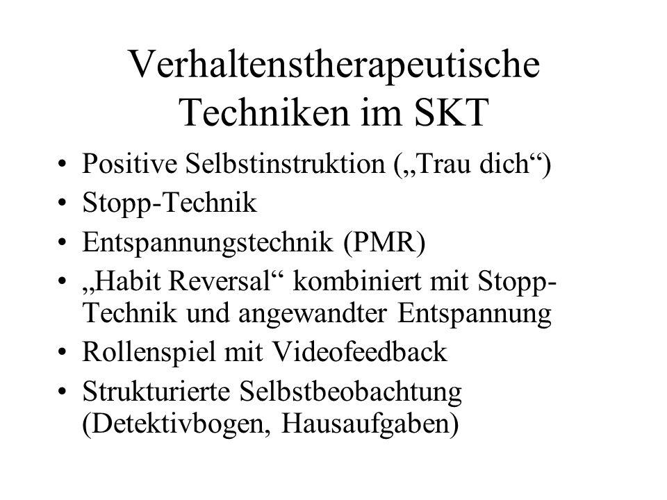 Verhaltenstherapeutische Techniken im SKT