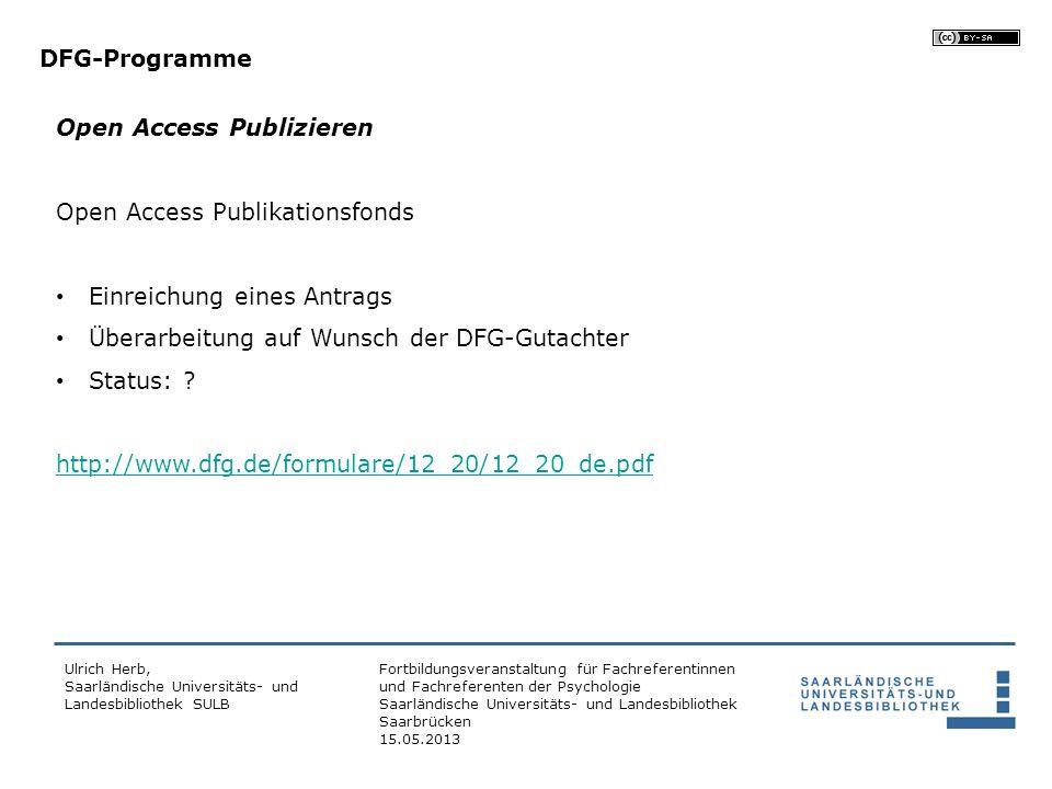 Open Access Publizieren