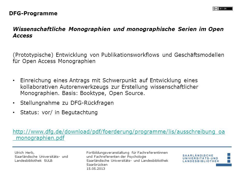 Stellungnahme zu DFG-Rückfragen Status: vor/ in Begutachtung