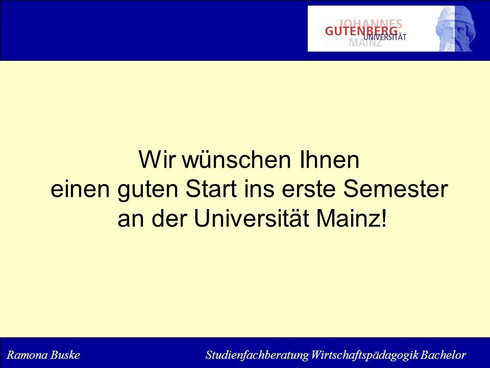einen guten Start ins erste Semester an der Universität Mainz!